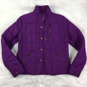 Ralph Lauren petite purple puffer jacket small